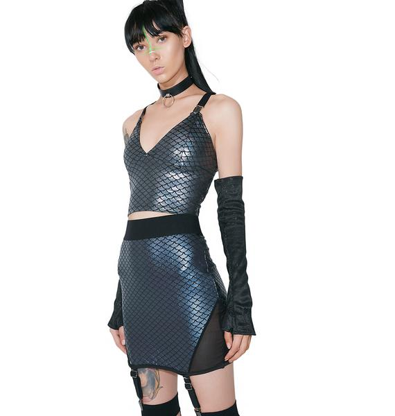 Killstar Felicity Mermaiden Mini Skirt