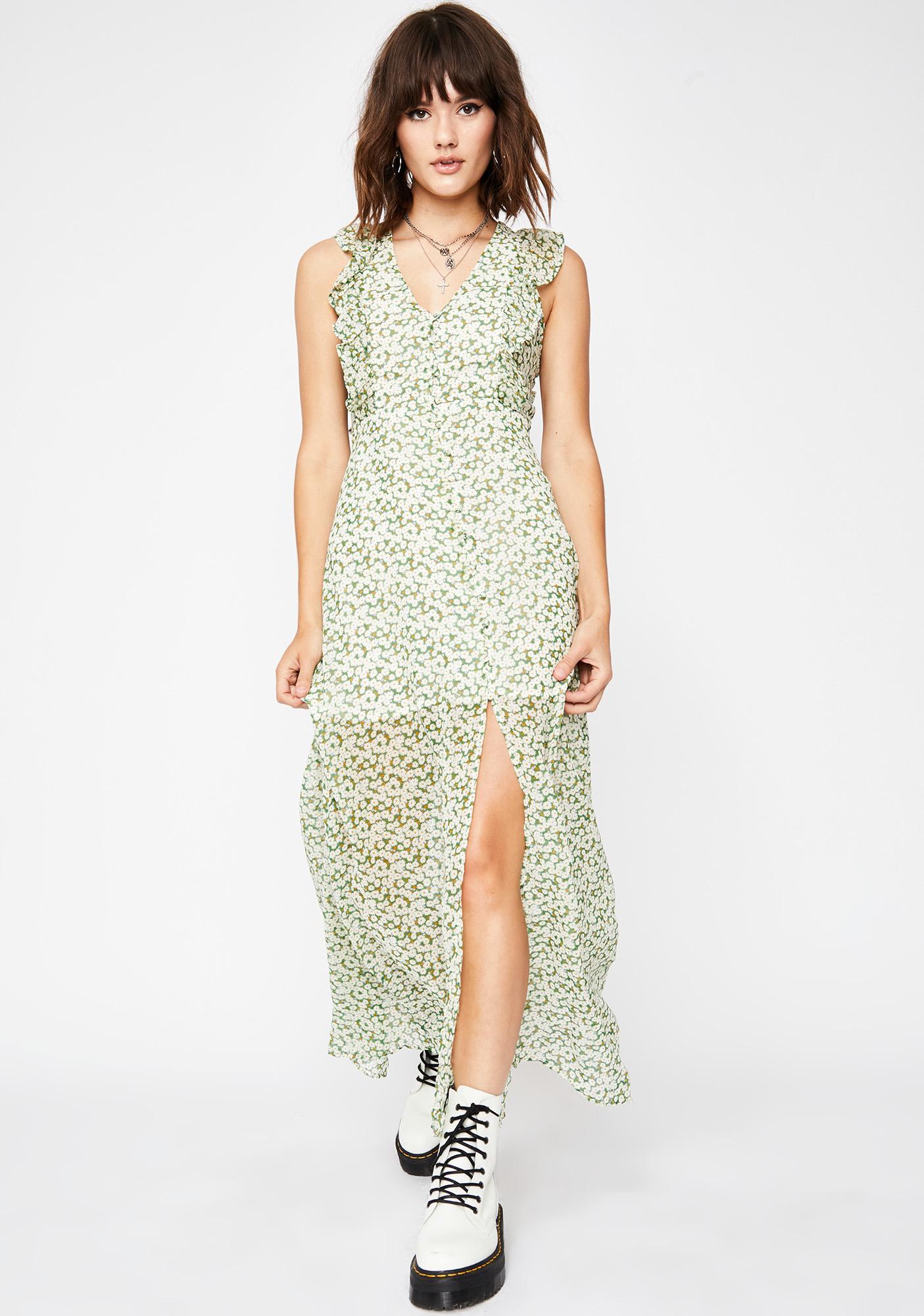 5e7f97c2abc Maxi Dress Floral Sheer