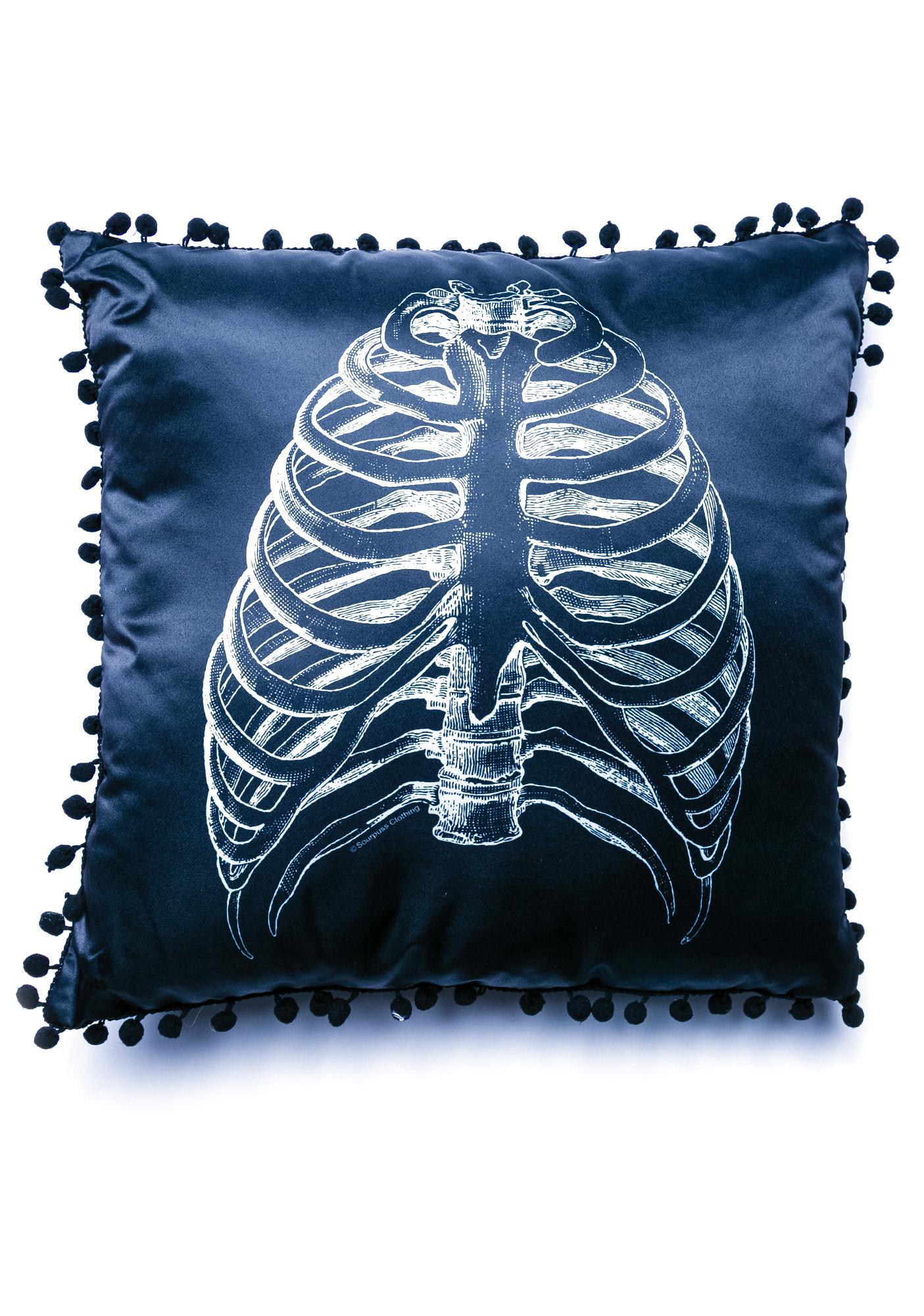 Sourpuss Clothing Anatomical Ribs Pillow