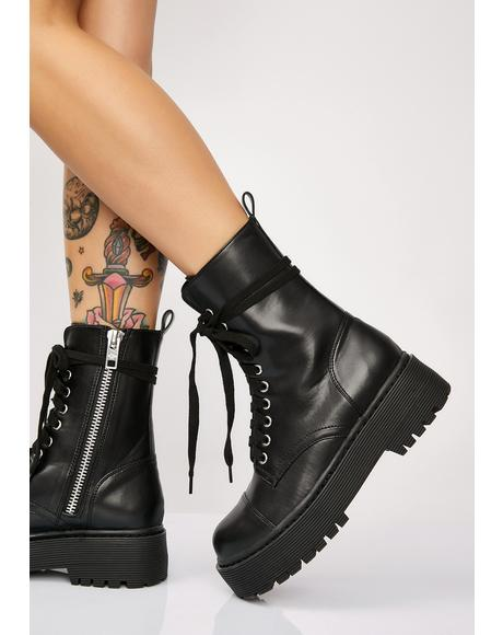 Karma Police Combat Boots
