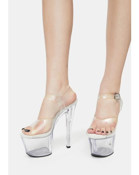 Girlfriend Experience Clear Platform Heels