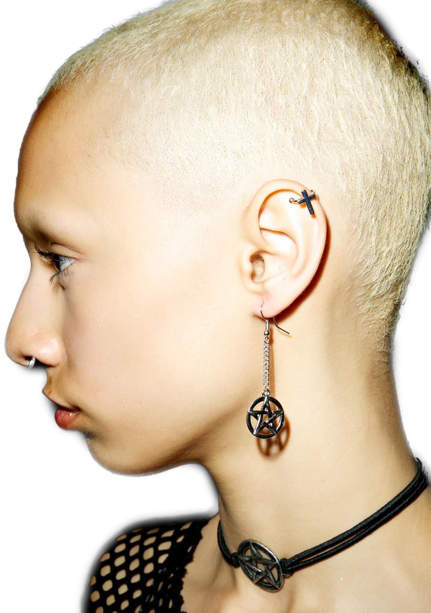 Cross Faded Ear Cuff