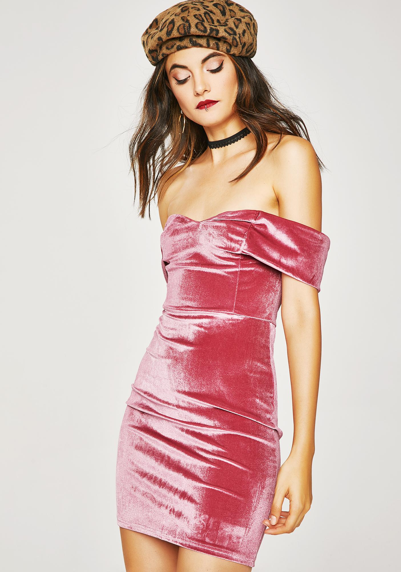 Homecoming Hunnie Velvet Dress