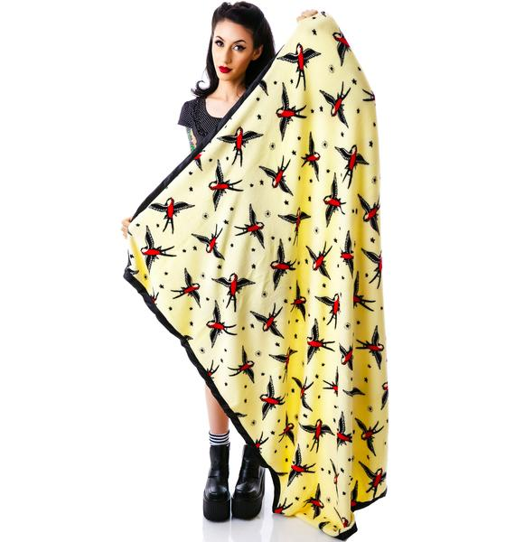 Sourpuss Clothing Sparrow Blanket Throw