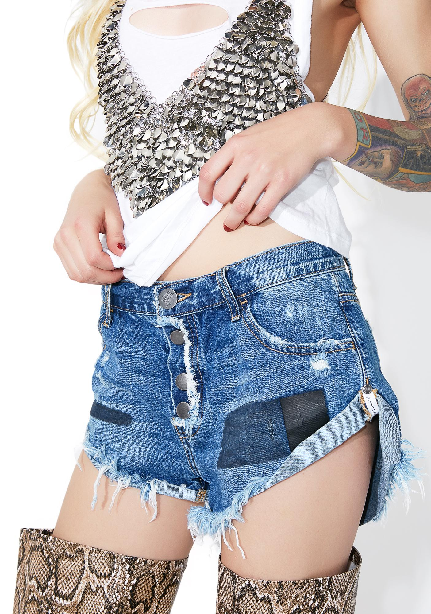 One Teaspoon Salty Sailor Bandit Shorts