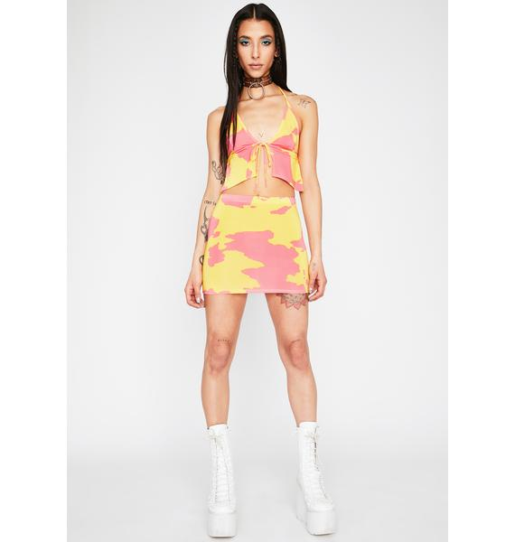 Lemonade Legend Dairy Mini Skirt
