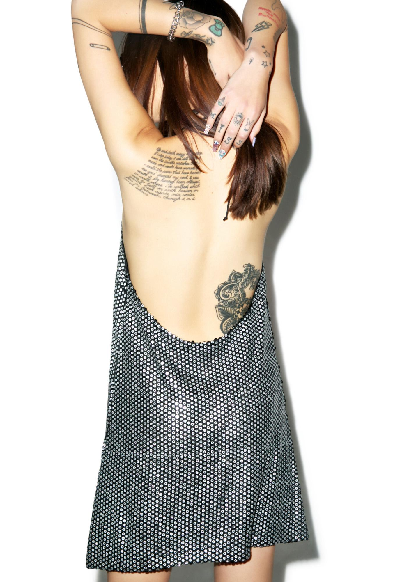 Motel Allie Sequin Slip Dress