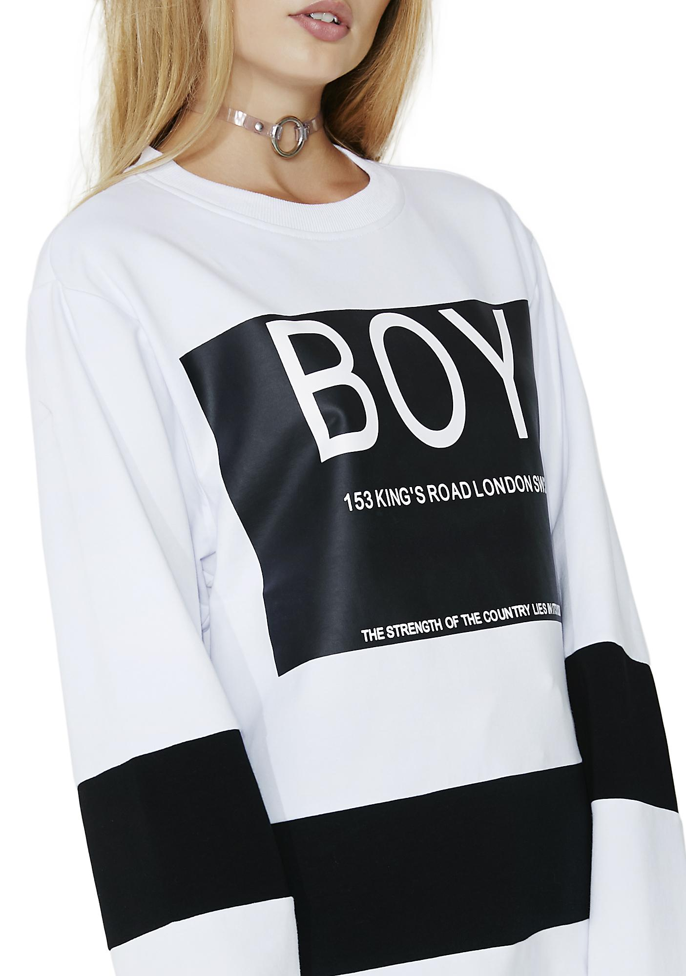 BOY London BOY Local Striped Sweatshirt