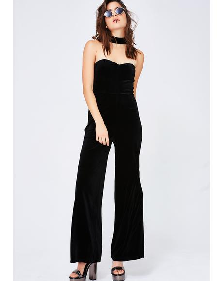All Choked Up Strapless Jumpsuit