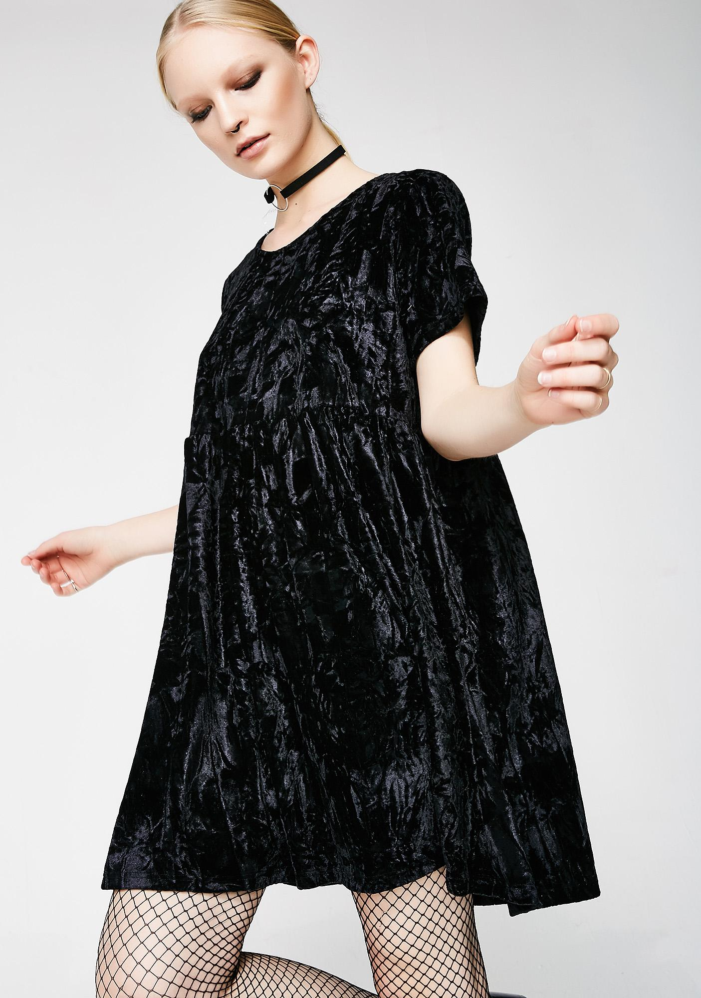 Glamorous Raven Play Day Velvet Dress