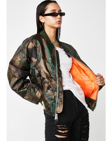 Camo MA-1 Flight Jacket
