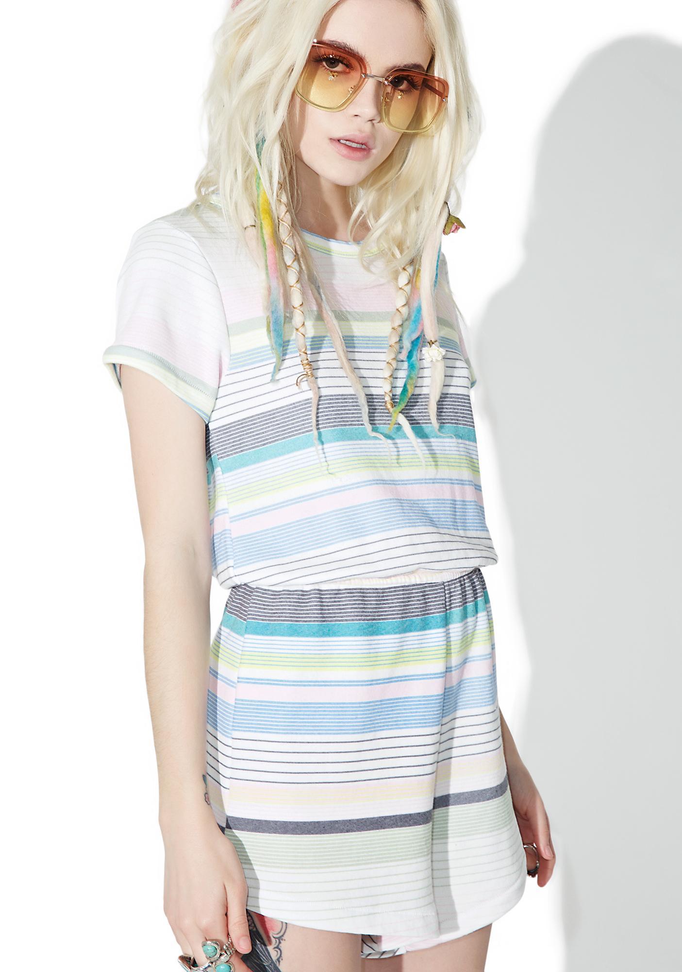 Wildfox Couture Beach Towel Stripe Romper