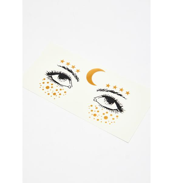 Cosmic Aura Face Stickers