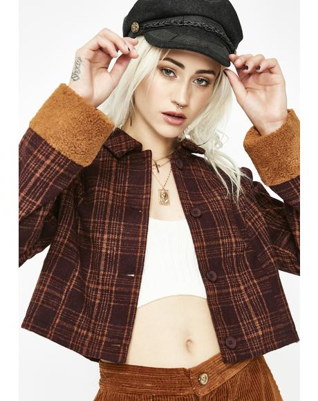 Keep Bad Company Plaid Jacket