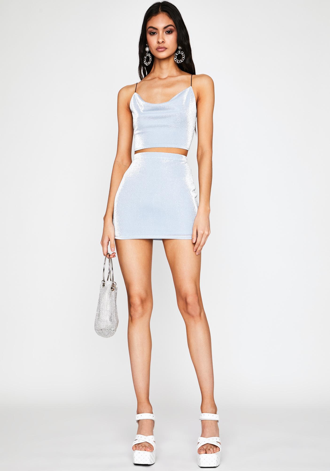 Azure Pure Opulence Skirt Set