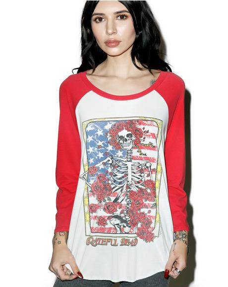 Grateful Dead Boyfriend Raglan