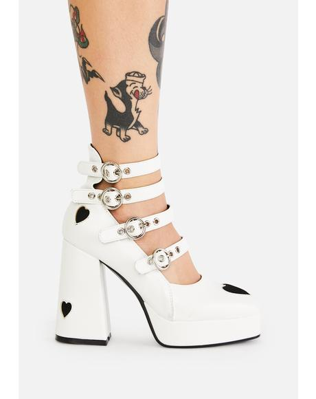 Angel This Heart Of Mine Buckle Heels