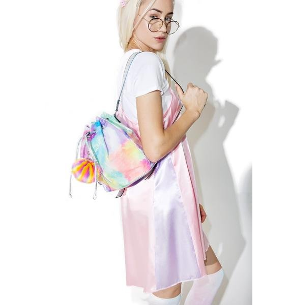 Jaded London Rainbow Pom Backpack