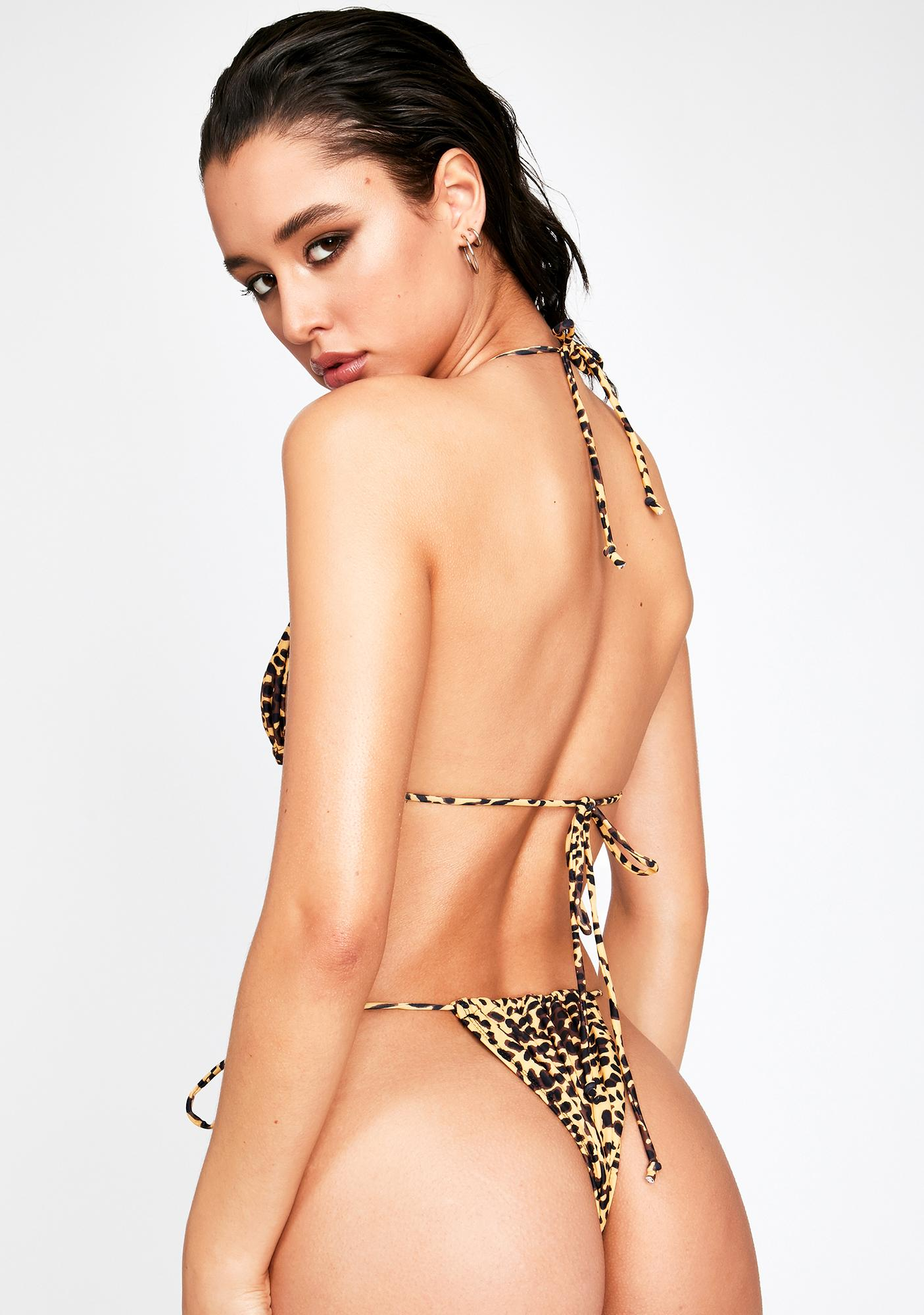 Motel Golden Cheetah Leyna Bikini Bottoms