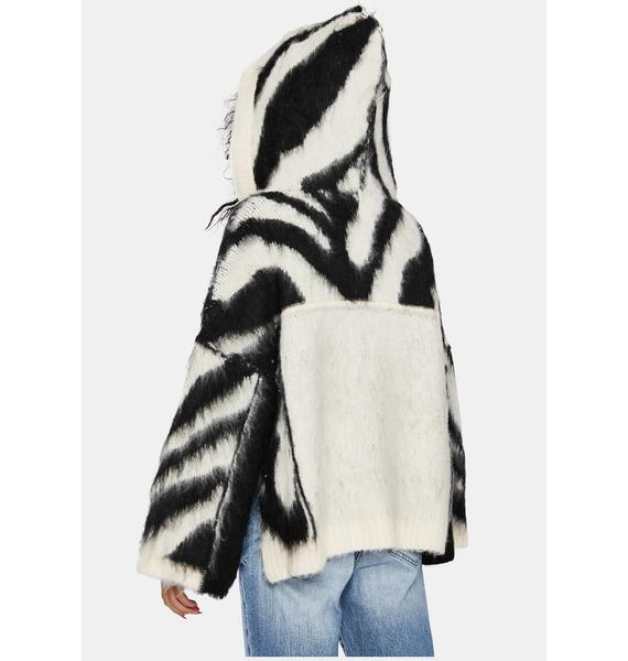 Wild Winter Poncho Hoodie