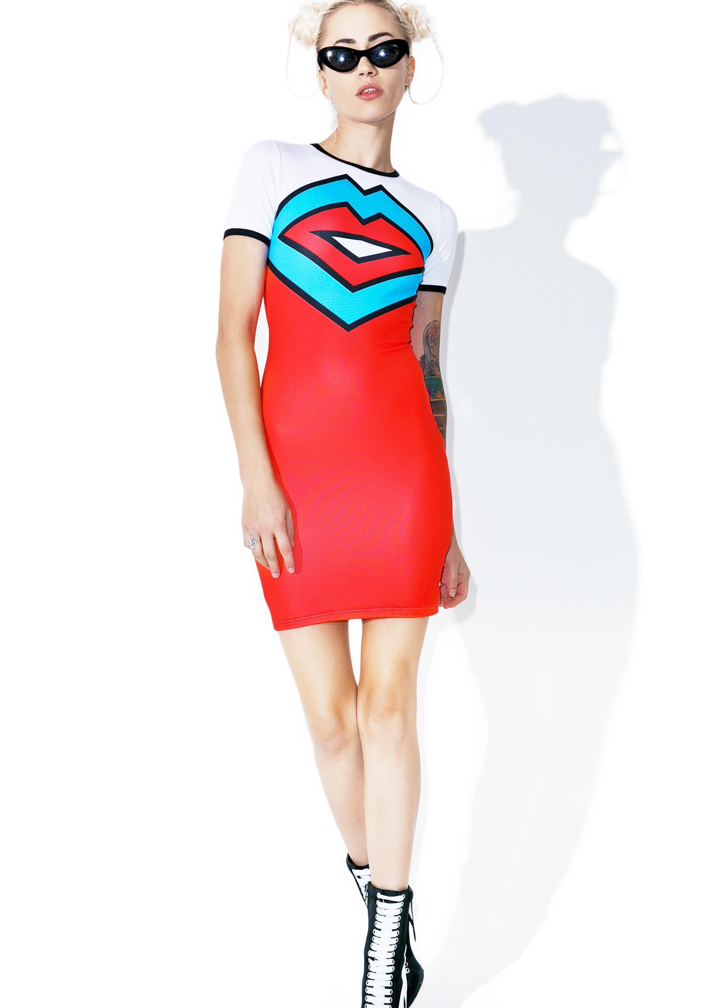 Nympha Lip Service Mini Dress
