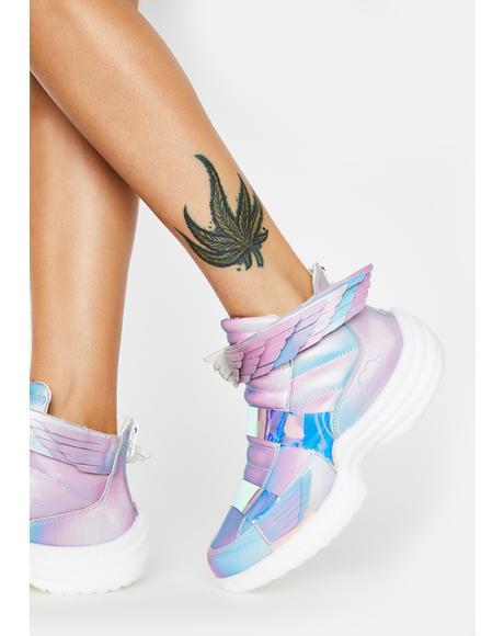5D Pastel Flyh Hi Sneakers