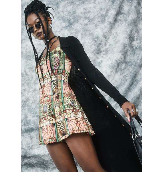 dELiA*s by Dolls Kill Malice Palace Long Sleeve Mini Dress