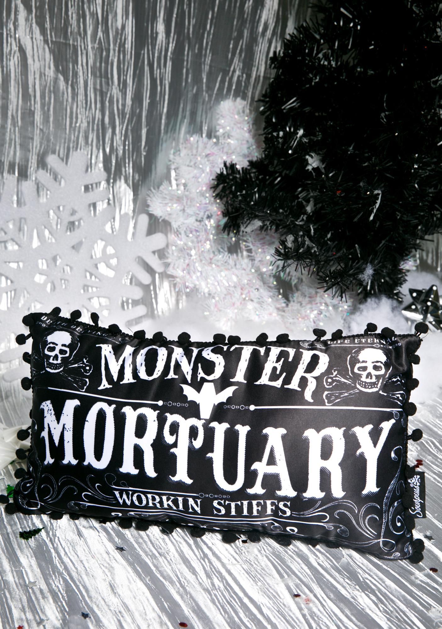 Sourpuss Clothing Monster Mortuary Throw Pillow