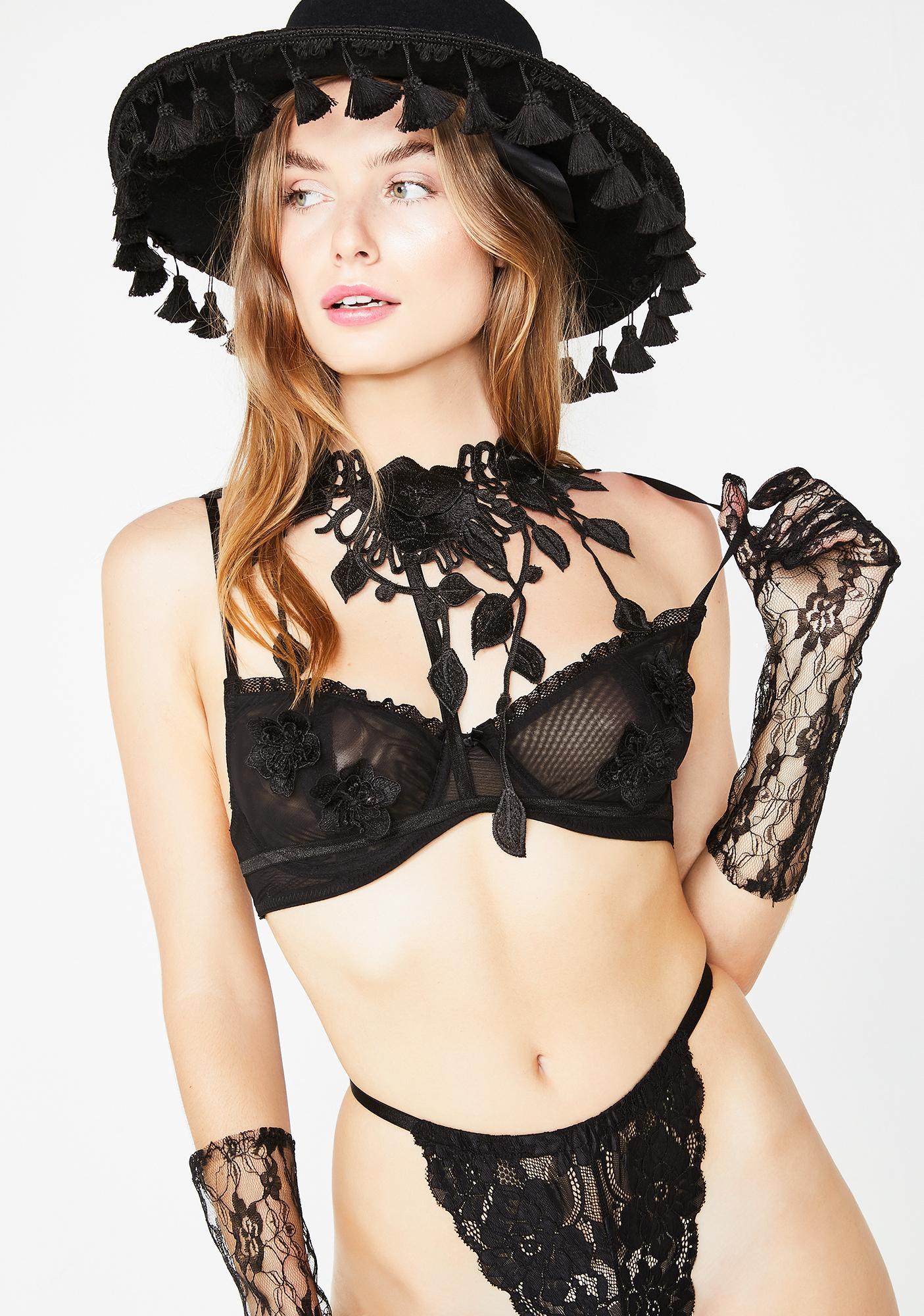 ... Sugar Thrillz Wicked Minx Floral Harness ... 1e1dd8b68