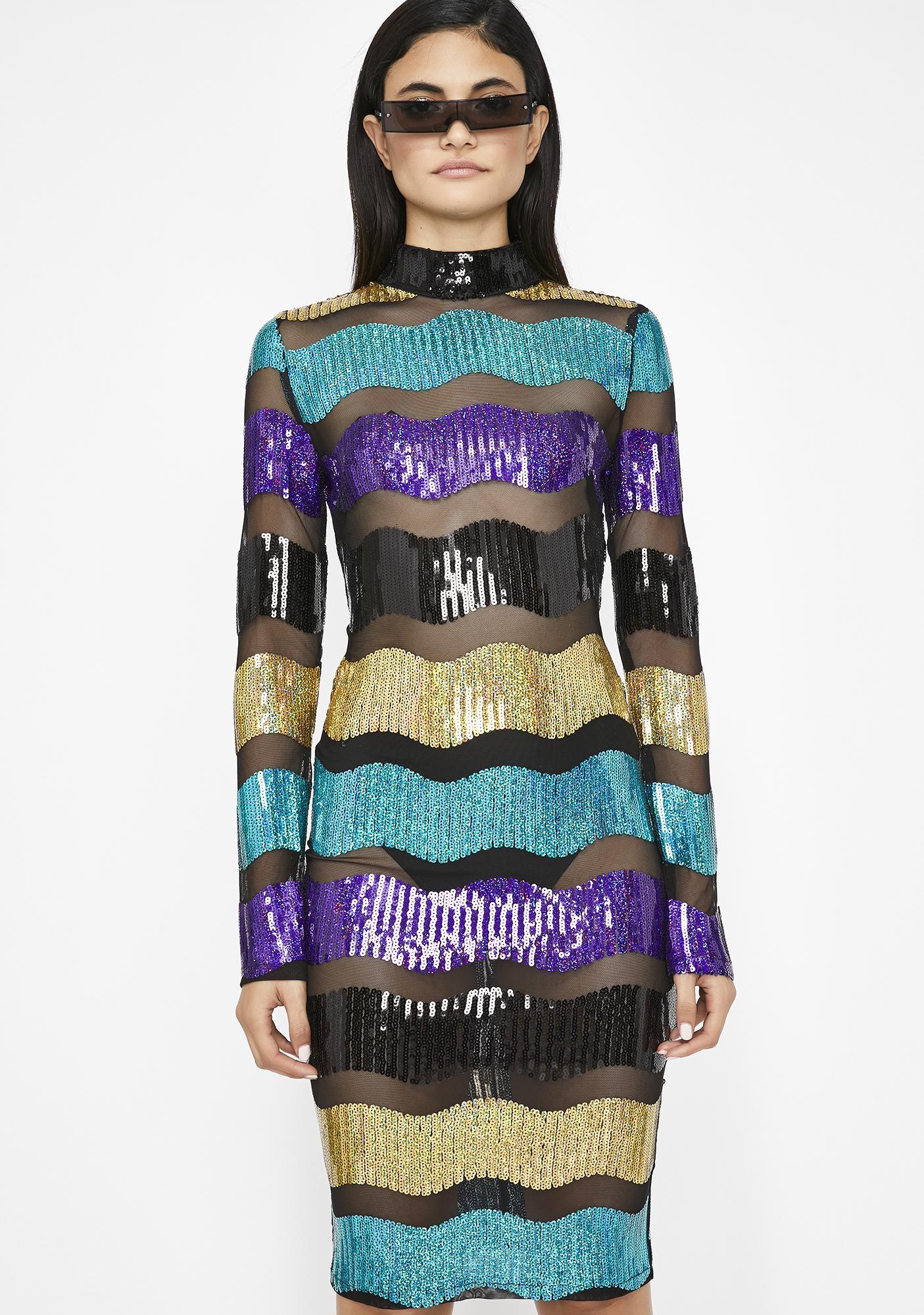 Wavy Bby Sequin Dress