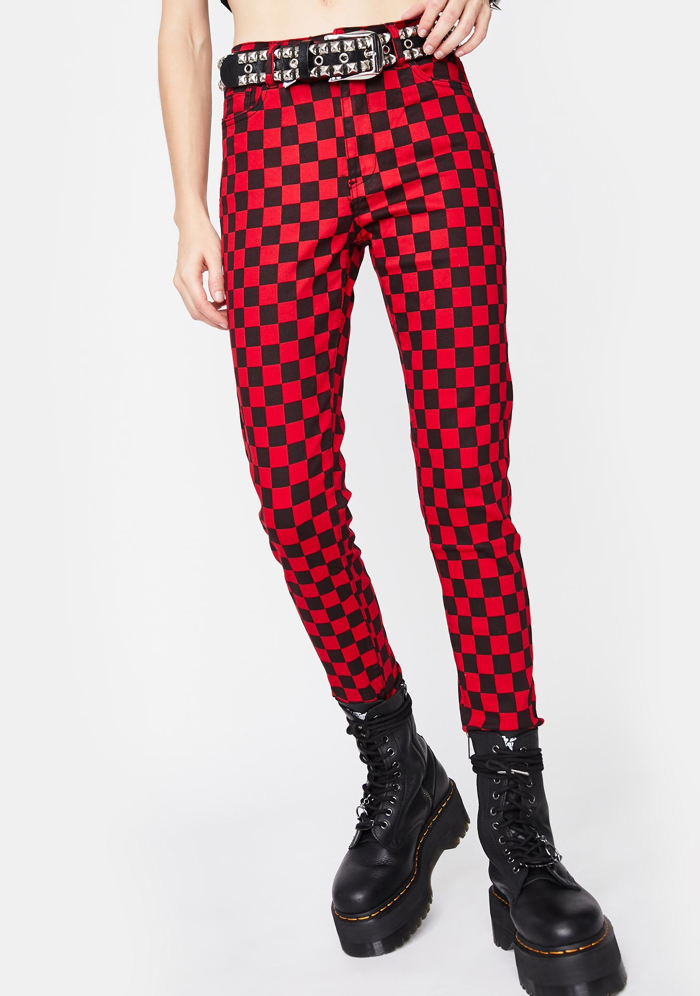 Fire Fast Life Checkered Pants