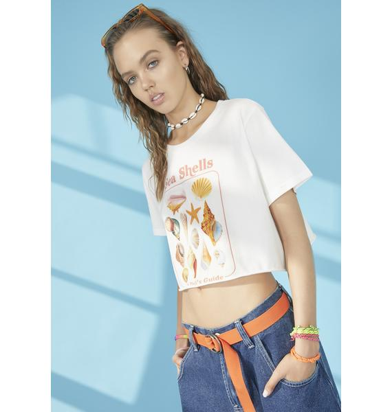 dELiA*s by Dolls Kill Call My Shellphone Cropped Tee