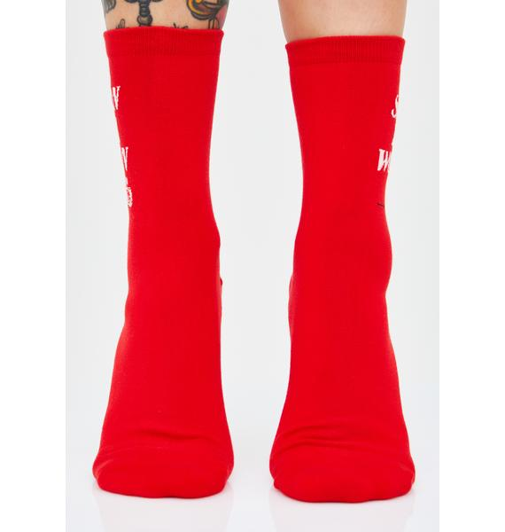 Rosehound Apparel Satan Is A Woman Socks