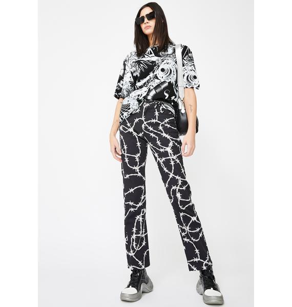 Jaded London Monochrome Print Oversized T-Shirt