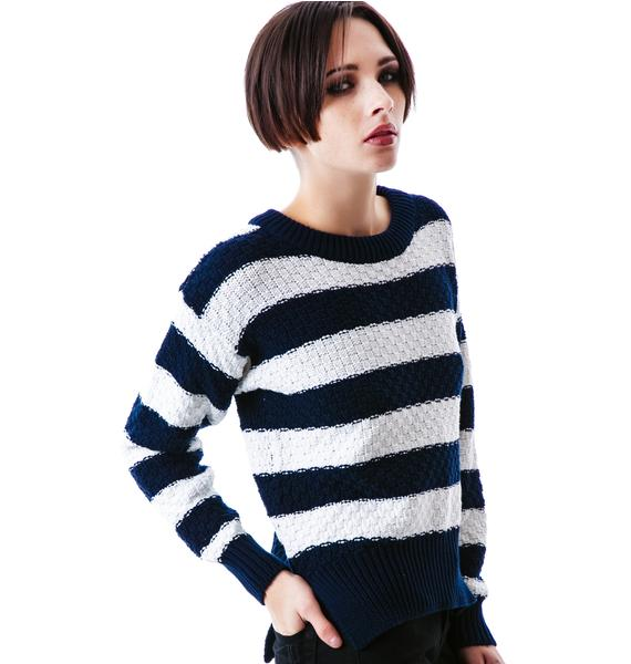 Mink Pink Team Player Knitted Jumper