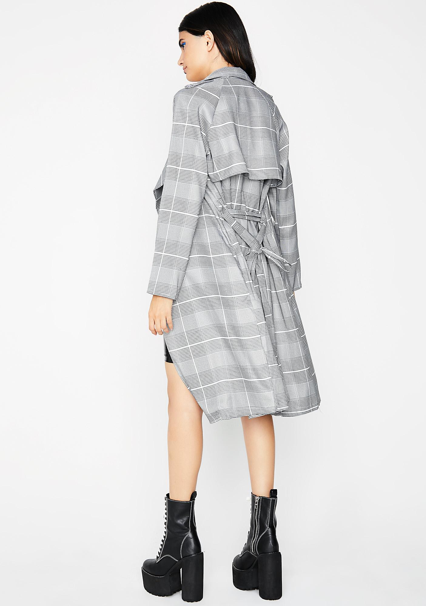 Book Worm Plaid Coat