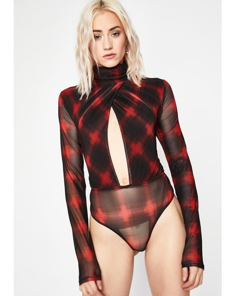 Apply Pressure Plaid Bodysuit