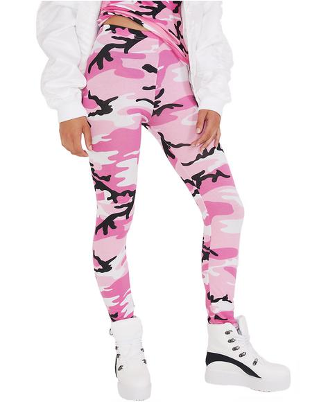 Never Surrender Camo Leggings