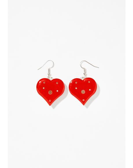 Bleeding Heart Light Up Earrings