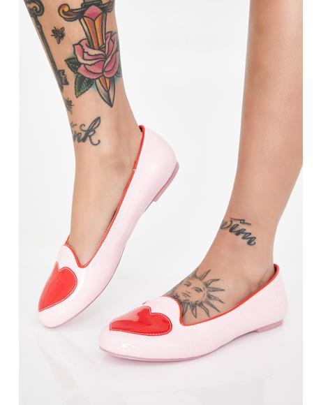 Lydia Heart Ballet Flats
