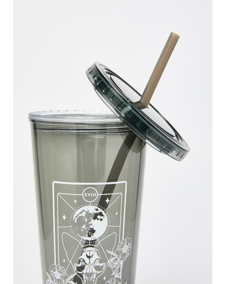 Moon And Cat Tarot 20oz Tumbler