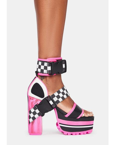 Crash Zone Platform Heels