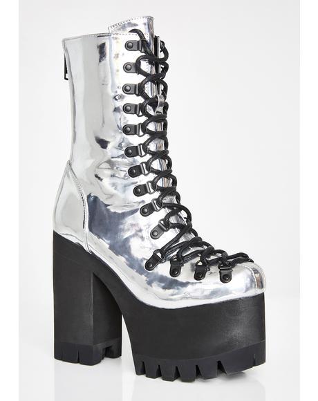 Titanium Ice Platform Boots