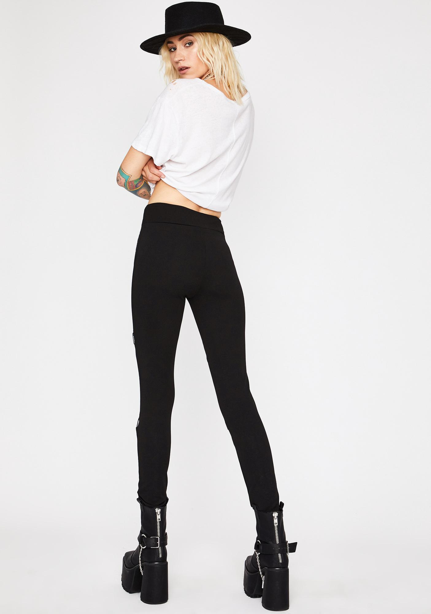 By The Code Lace-Up Leggings