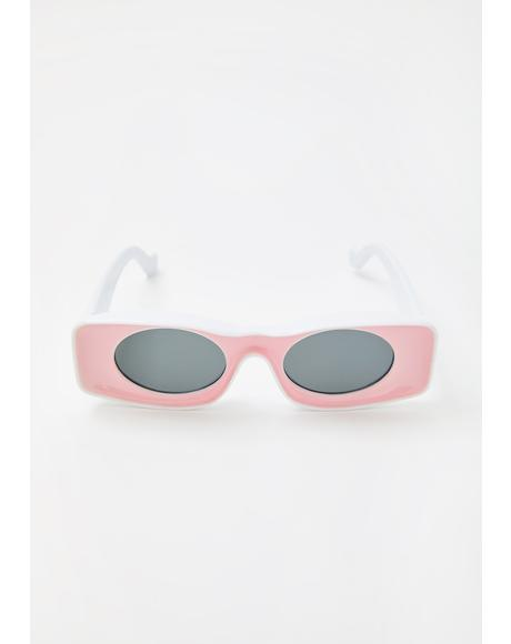 Baby In Retrospect Rectangle Sunglasses