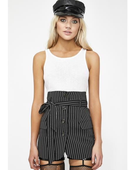 Mob Babe Pinstripe Skirt
