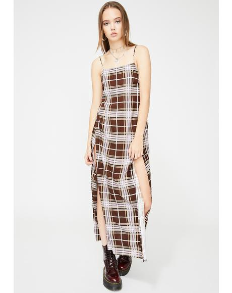 Kayme Plaid Dress