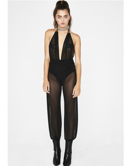 Bad Genie Sheer Jumpsuit