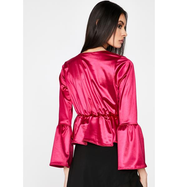 First Date Kiss Satin Blouse