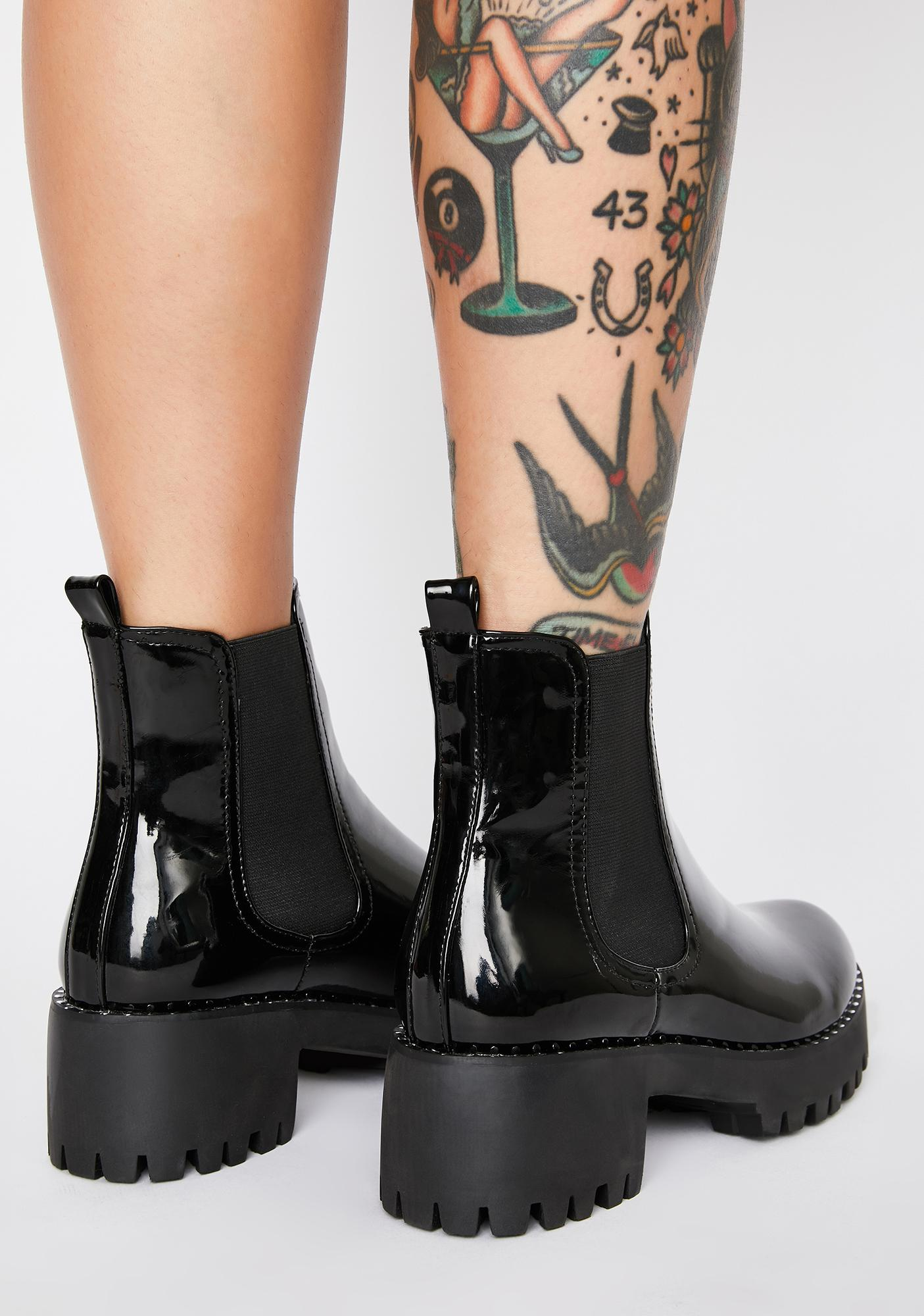 AZALEA WANG Guili Patent Ankle Boots